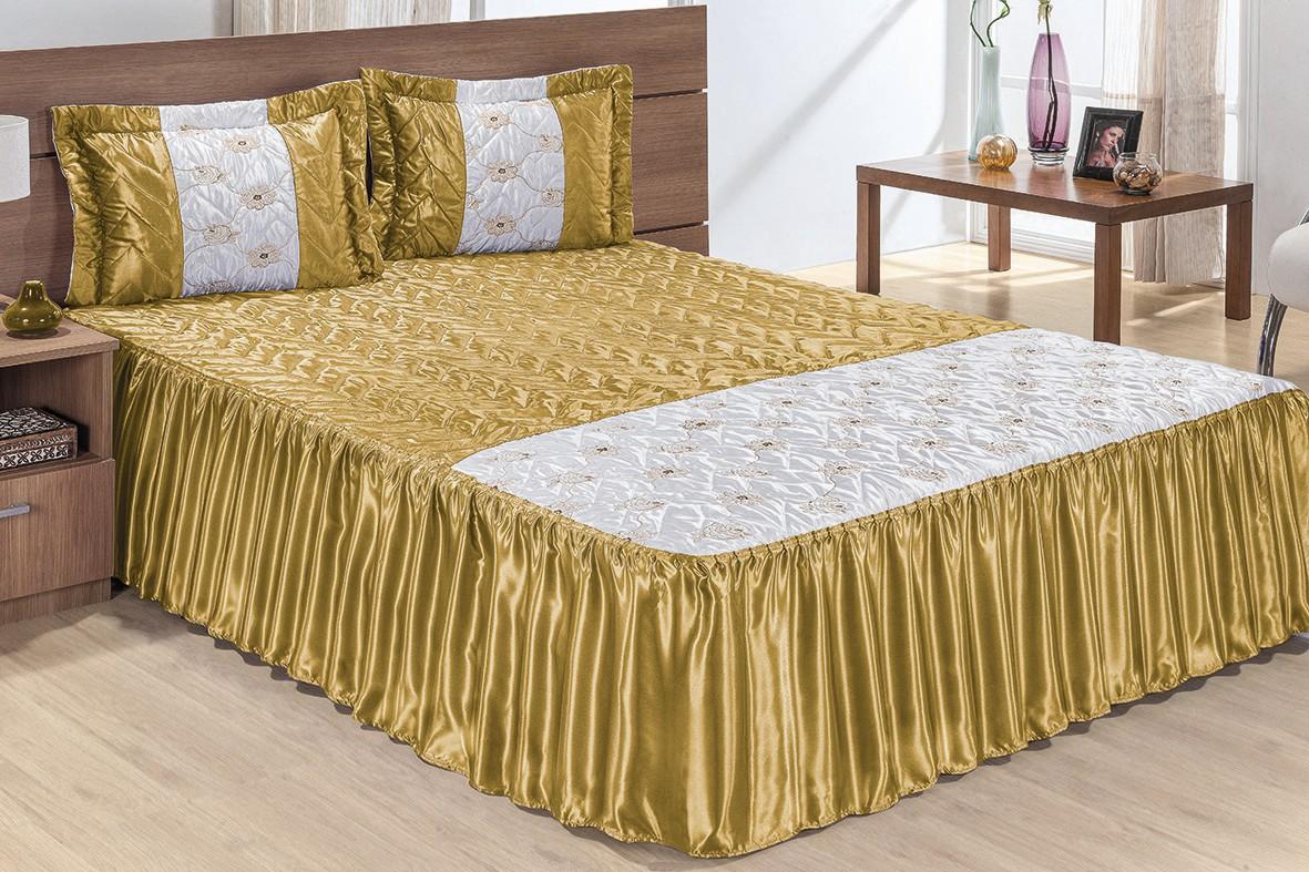 Fotos de colcha casal kit alles 7 p s algod o linho - Imagenes de colchas para camas ...