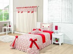 cobre leito solteiro cortina doçura